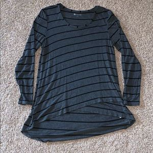 Gray and Black Striped Long Sleeve